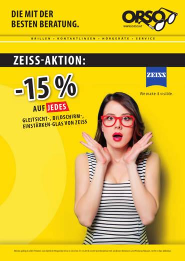 Zeiss-Aktion -15% auf alle Gläser