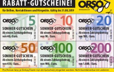 Sommer-Gutscheine!