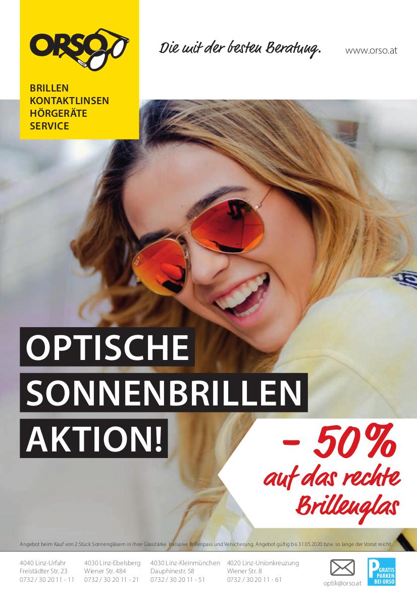 Sun-Aktion – jetzt -50% auf ein Brillenglas!