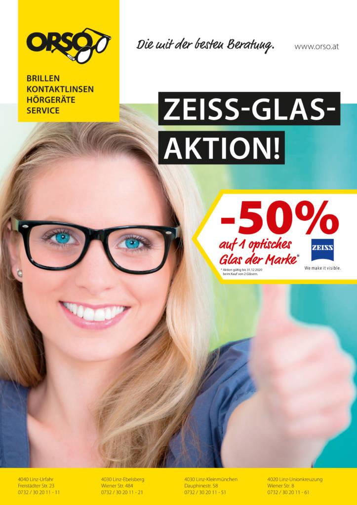 -50% auf Zeiss Brillengläser